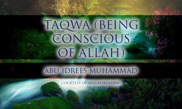 Taqwa (Being Conscious of Allah)   Abu Idrees   Reading