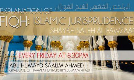 The Fiqh of Wudhu (Ablution & Ritual Purification) | Abu Humayd Saalim Ahmed