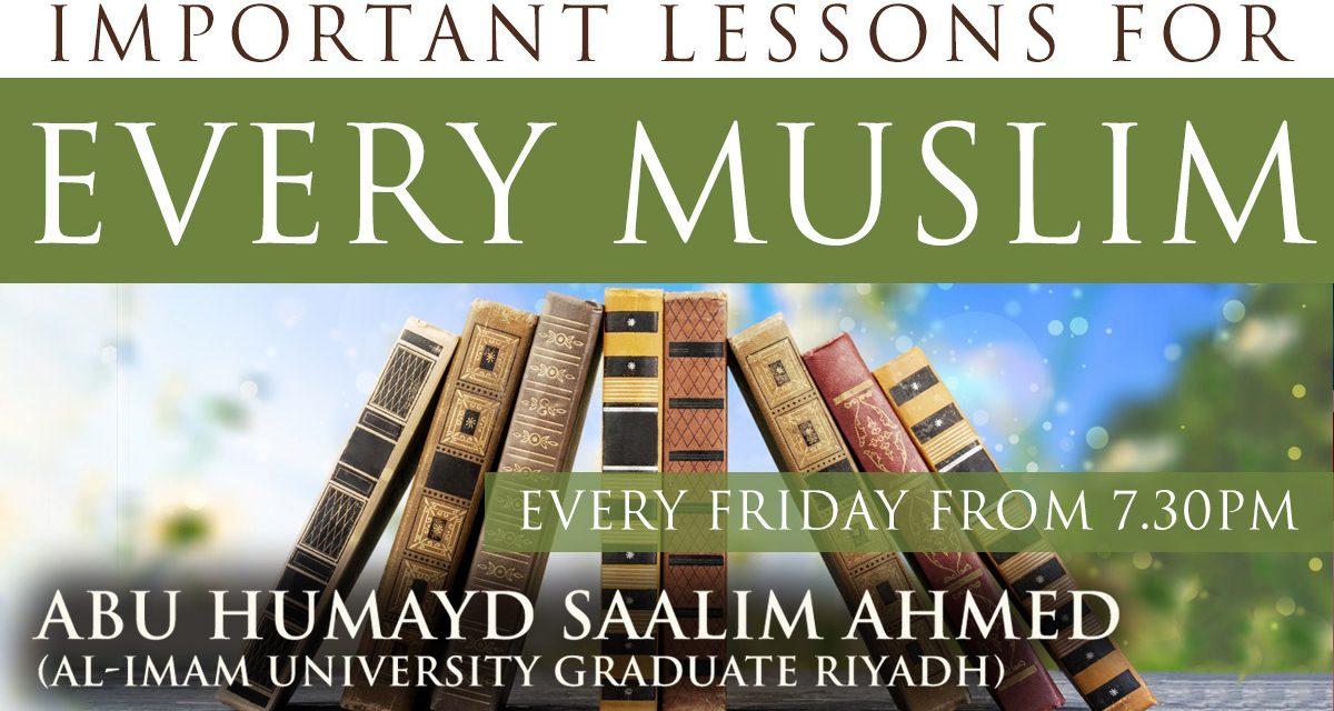 11 – Islamic Mannerisms Part 2 – Abu Humayd Saalim | Manchester