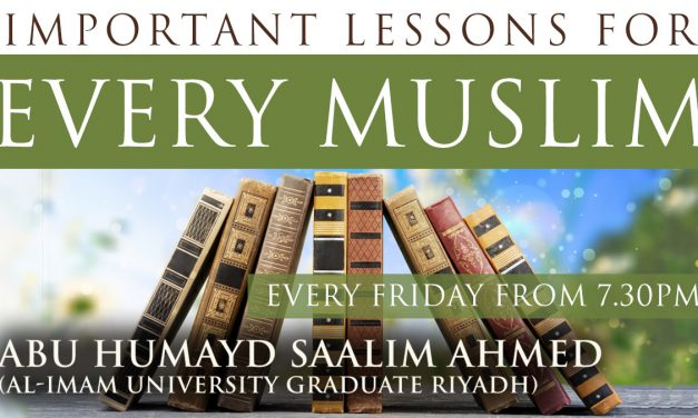 Course: Important Lessons For Every Muslim | Abu Humayd Saalim Ahmed