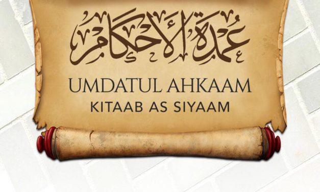 05 – Umdatul Ahkaam Kitaab As Siyaam – Uways At-Taweel | Cardiff