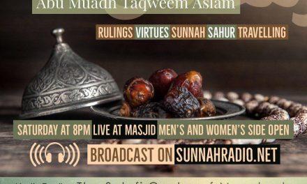 3 – Ramadhaan Workshop 2018 – Abu Muadh Taqweem | Manchester